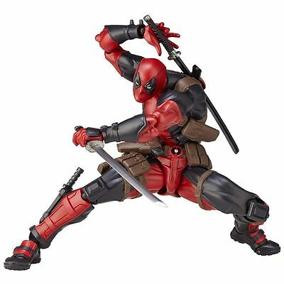 US Ship Revoltech Series Deadpool PVC Action Figure Toy Collection Doll Model