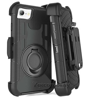 010048b10f2 For iPhone 8 Plus Slim Holster Hard Case Cover with Kickstand and Belt Clip