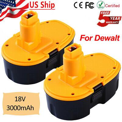 2Pcs Upgraded for DeWalt 18V 18 Volt XRP Battery DC9096 DC9098 DC9099 DW9095