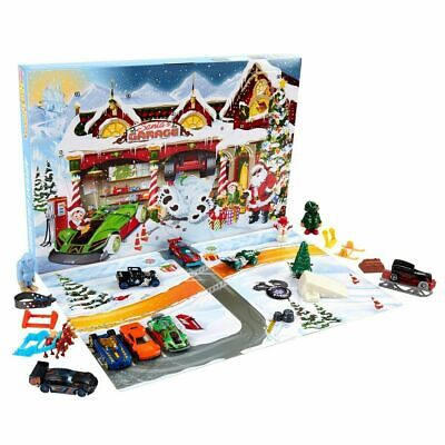 Kids Toys Hot Wheels Advent Calendar Vehicles Collectible Mattel Christmas Gift