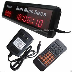 Mini 1 Red Led Countdown clock 9 digital wall clock countdown timer days event