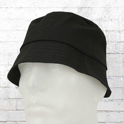 Dünner Sommer-Hut Bucket schwarz Anglerhut Angelhut Mütze Haube