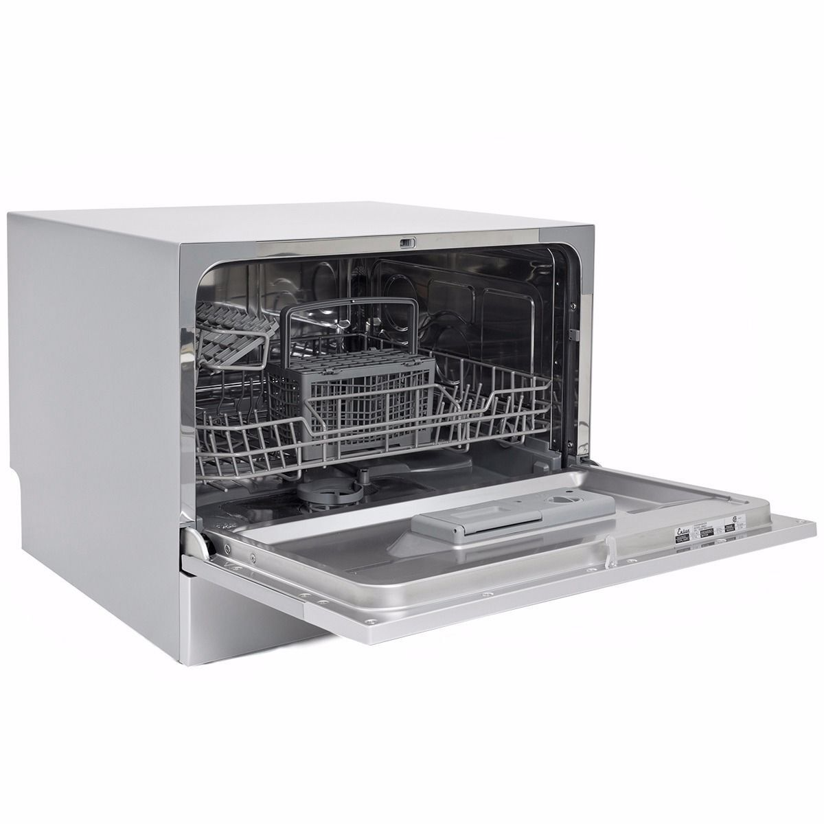 Countertop Dishwasher Silver Portable Compact Energy Star