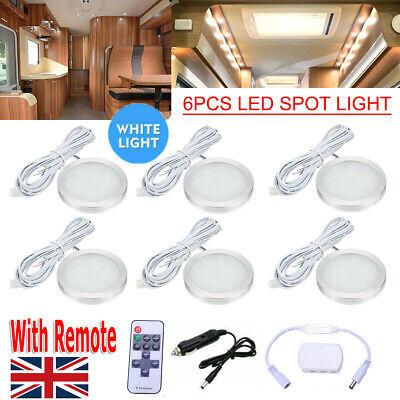 6x 12V Interior LED Spot Lights For VW T4 T5 Camper Van Caravan Motorhome Light