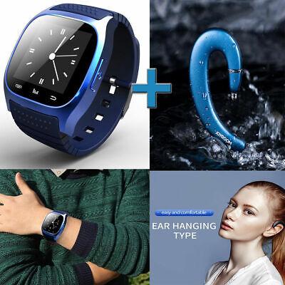 Mate Muñeca Reloj Inteligente Bluetooth Para Samsung iPhone Auricular P2 JYRM