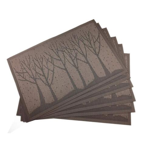 Brown Table Mats PVC Placemats for Kitchen Table Mats Washab