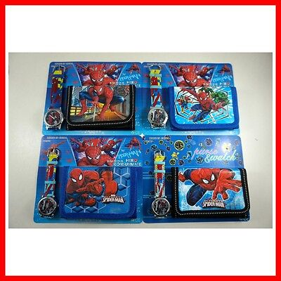 Spiderman Spider-Man Children's Kids Boys Girls Watch Wallet Christmas Gift SET