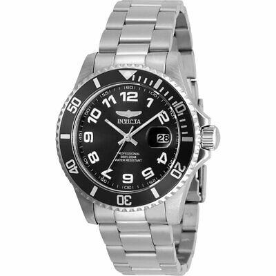 Invicta Men's Watch Pro Diver Quartz Black Dial Stainless Steel Bracelet 30690