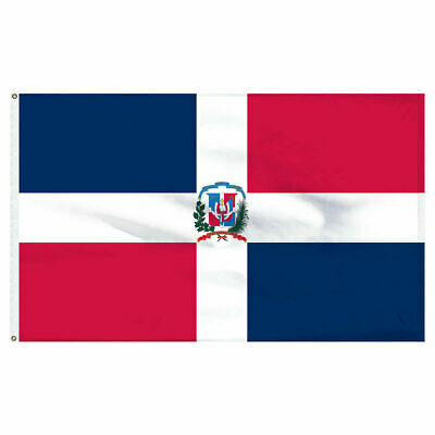 Dominican Republic Flag 3×5 Polyester Indoor Outdoor Flag National Banner Décor