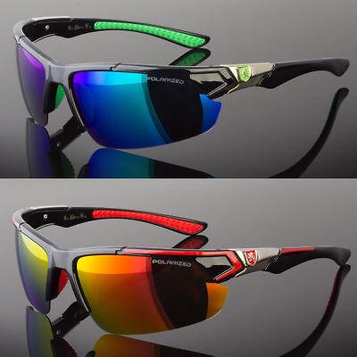 New Men Polarized Sunglasses Sport Wrap Around Mirror Driving Eyewear Glasses sunglasses