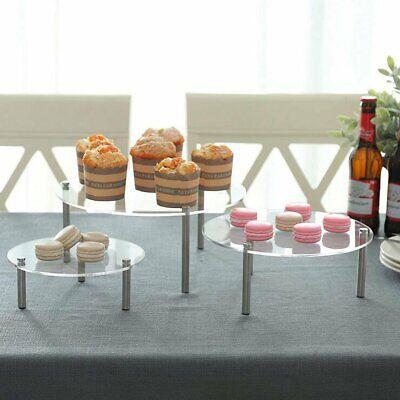 3 Tier Acrylic Cake Stand Storage Rack Wedding Party Dessert Display Holder US 3 Tiered Dessert Stand