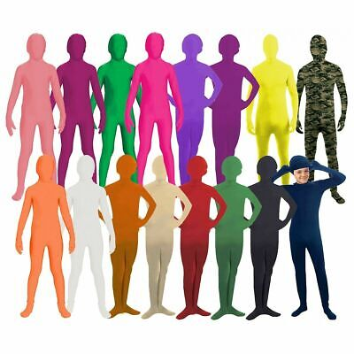 Stretch Jumpsuit CHILD, TEEN Costume Skin Suit Lycra Spandex  Full Body Unitard  - Skins Costumes