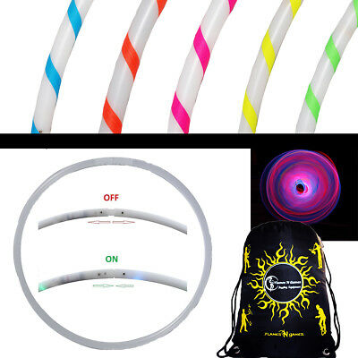 AR Glow LED Hula Hoop - Coloured 29 LEDs + Travel Bag (Glow Hoop)