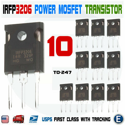 10pcs Irfp3206 Mosfet Power Transistor N-channel 60v 120a 280w To-247 Hexfet Ir