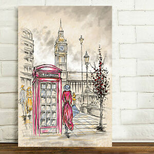 Unframed Canvas Prints Modern Home Decor Wall Art Picture-London Streetscape