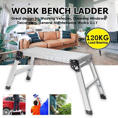 Portable Work Platform Step Stool Folding Car Wash Rv Camping Working Ladder