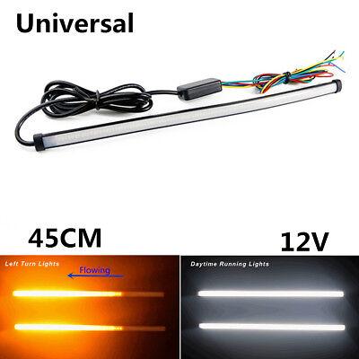 2xCar DRL LED Knight Rider Light Bar Strip Streaming Turn Signal 45cm Waterproof