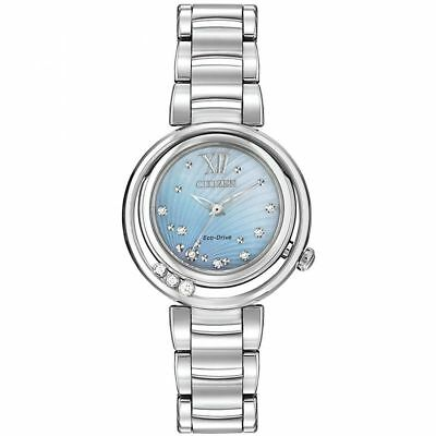 Women's Citizen Eco Drive Sunrise Diamond Dress Watch EM0320-59D MSRP $795