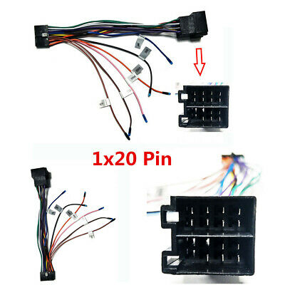 20 Pin Car Radio ISO Wiring Harness Connector Adaptor Lead Cable Wire Plug Loom