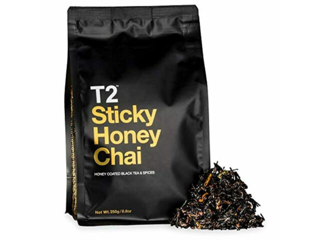 T2 Tea Sticky Honey Chai Loose Leaf Black Tea in Resealable Foil Refill Bag 250g