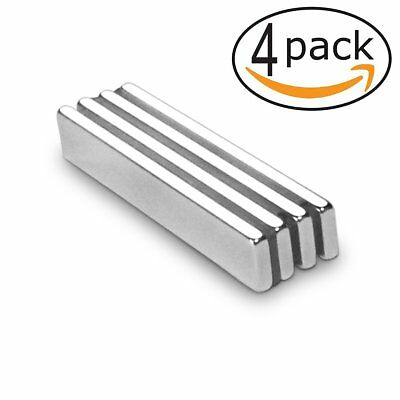 Permanent Neodymium Bar Magnets Powerful Refrigerator Rare Earth Magnet 4 Pcs