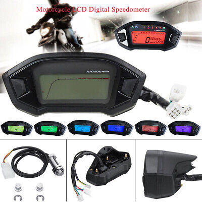 Universal LCD Digital Backlight Motorcycle Odometer Speedometer Tachometer Gauge