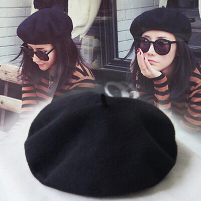 Fashion Women's Soft Warm French Artist Beret Beanie Slouch Hat Cap US - French Artist Hats