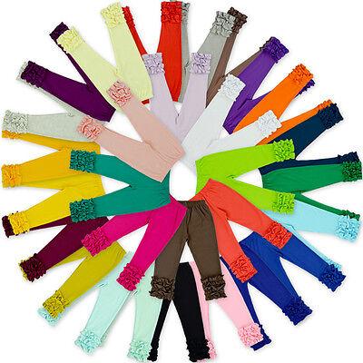 16 Colors Toddler Baby Girl Kid Icing Ruffle Cotton Pants Leggings Trousers ](Girls Ruffle Leggings)