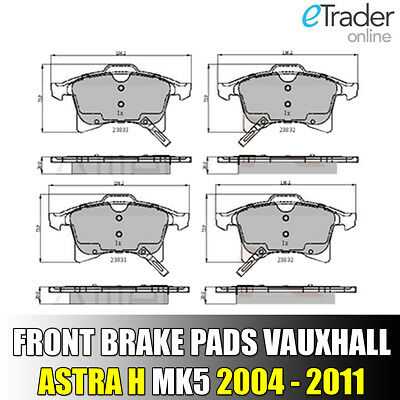 Vauxhall Astra H Front Brake Pads MK5 Pad Set 2004 - 2011 PREMIUM QUALITY NEW