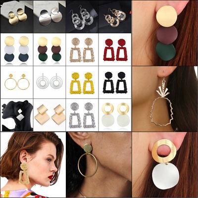 Big Christmas Gifts (Fashion Women Statement Boho Alloy Geometric Big Dangle Drop Earring Xmas)