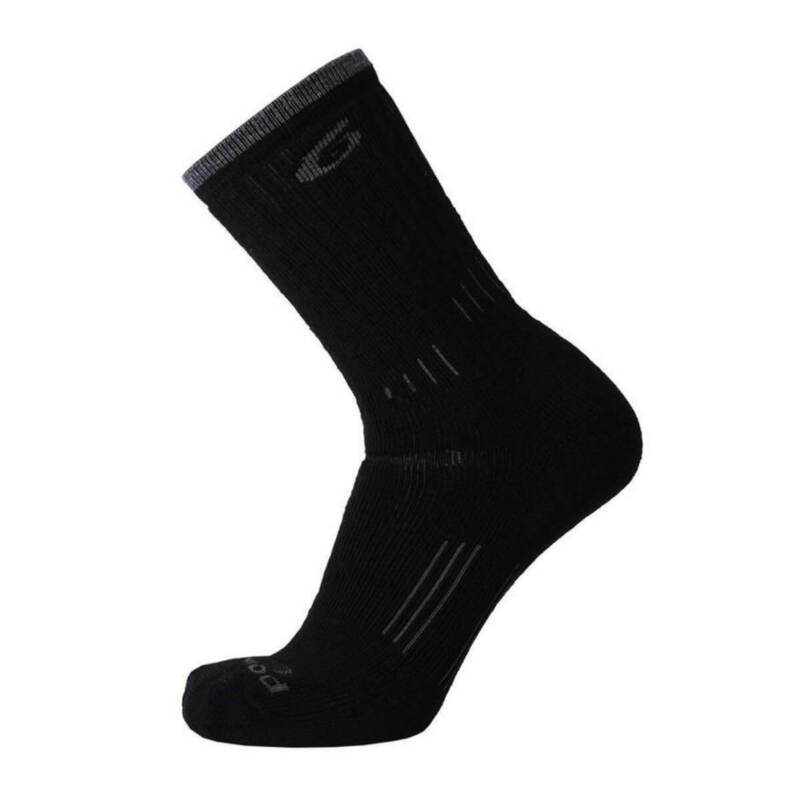 Point6 2531-204-06 Hiking Essential Light Crew Socks, Black, Medium