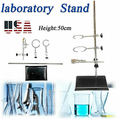 Laboratory Stand Physicschemistry Lab Clamp Flask Support Sets 50cm19.7 Us