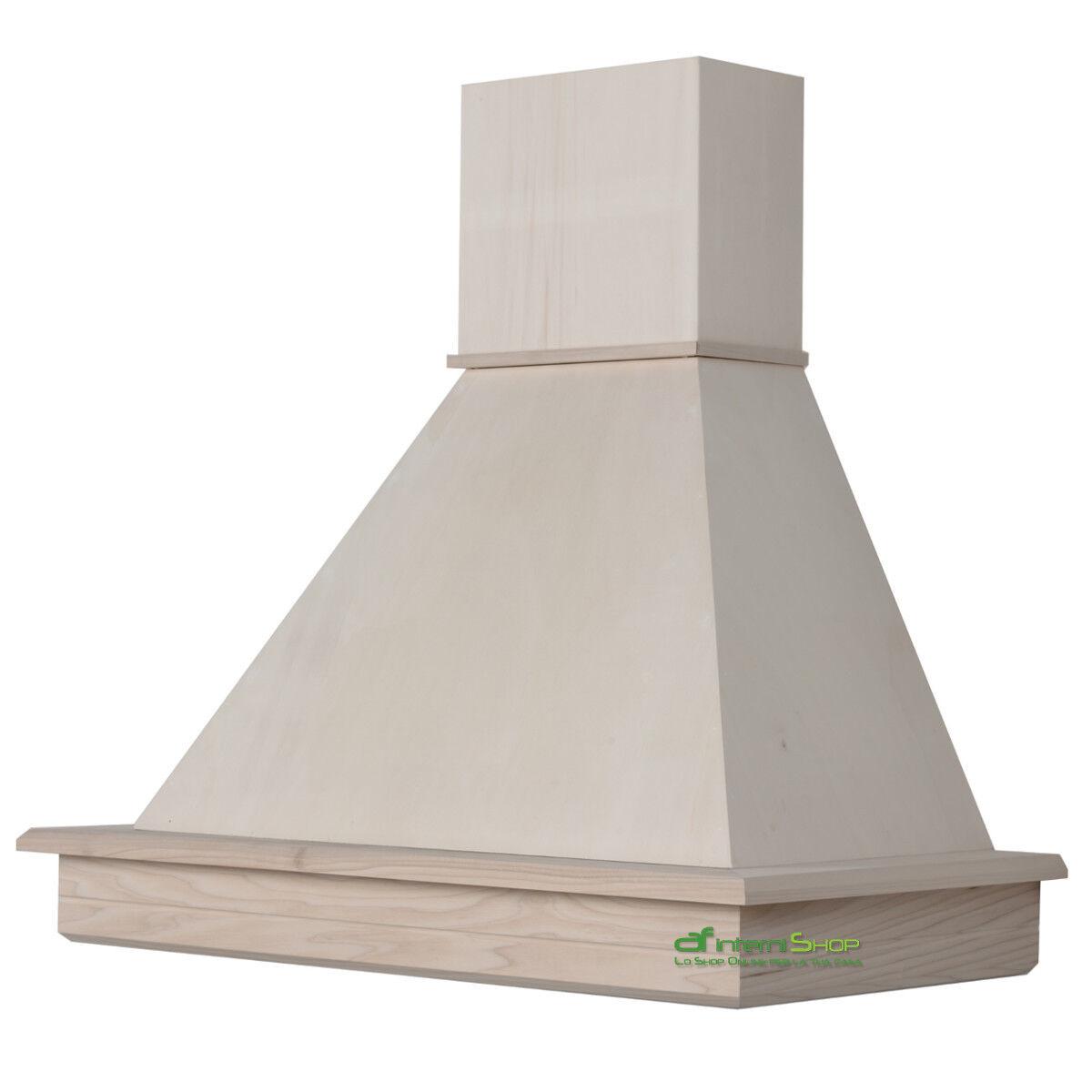 Cl90 ttg cappa cucina parete 90 legno classica rustica da - Scarico fumi cappa cucina a parete ...