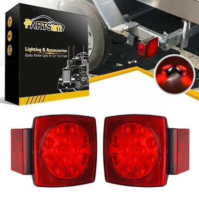 1Pair LED Submersible Square Lights Trailer Under 80