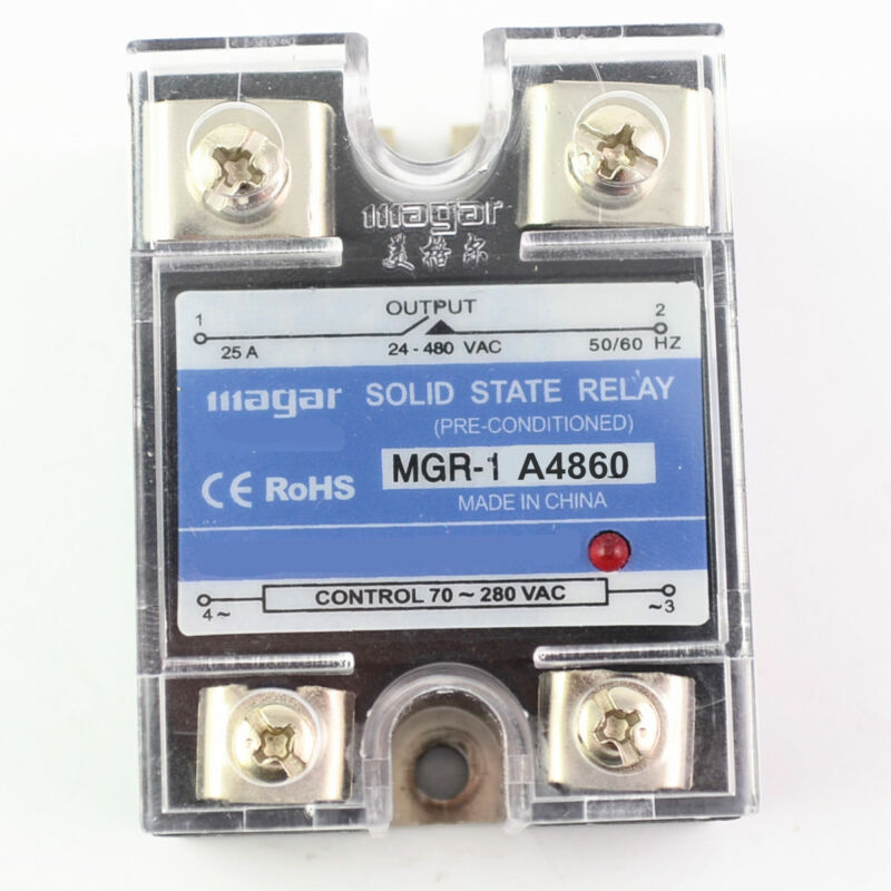 Solid State Relay Module SSR-60AA 60A  70-280V AC Input 24-480VAC Output
