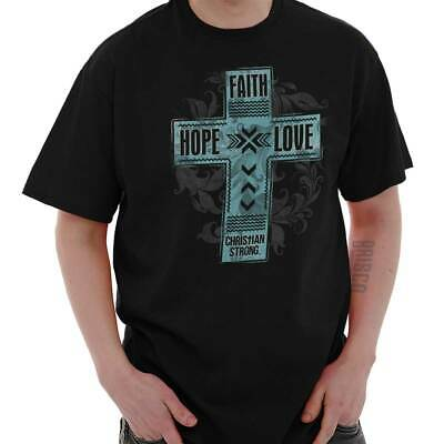 Faith Hope Love Christian T Shirts Jesus Christ Gift Ideas T-Shirt Tee