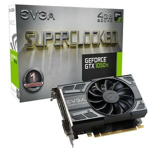GeForce GTX 1050Ti EVGA SuperClocked SC 4GB Video Card Gamer Jeu