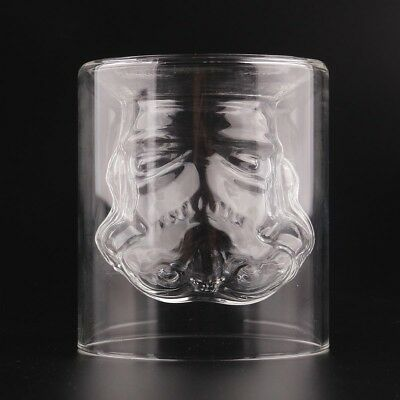 Hot Star Wars Stormtrooper Double Wall Crystal Glass Cup Whiskey Wine Mug DE