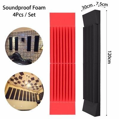 Acoustic Wedge Studio Soundproof Panel Foam Board Wall Sound Absorption 12 X 47