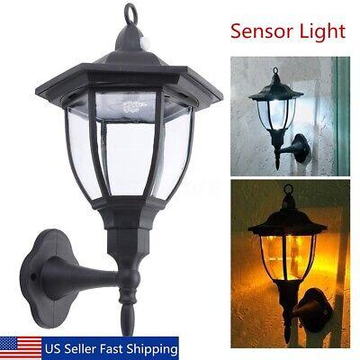 Retro Outdoor Wall Lantern Motion Sensor Lamp Sconce Light F