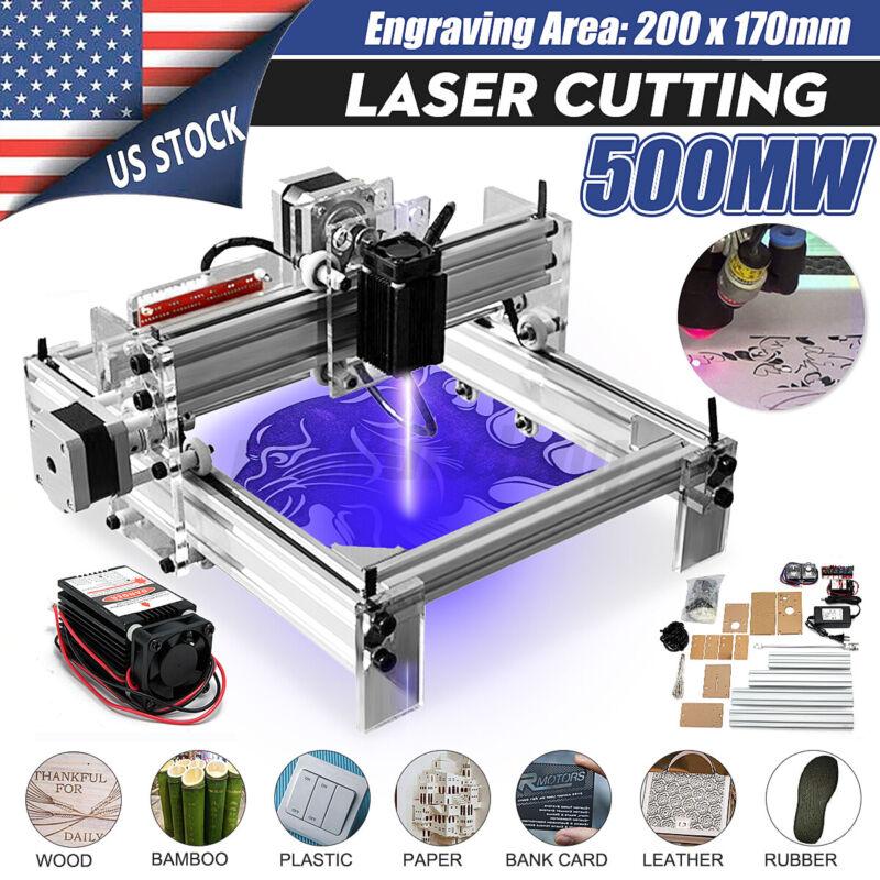 500MW DIY Mini Laser Engraving Cutting Machine Desktop Printer Kit