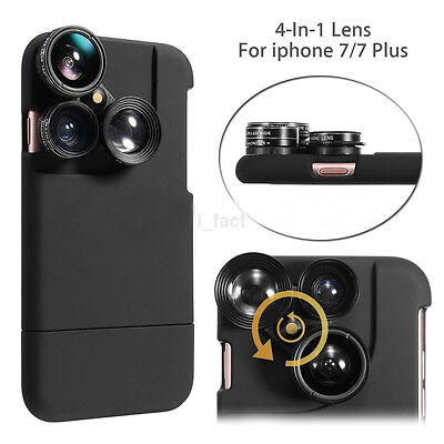 180°Special Fish Eye+Wide Angle+Macro+CPL Lens 4in1 Kit Case for iPhone7/plus (Fish Eye Lense For Iphone 7 Plus)
