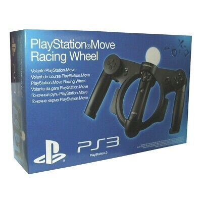 Official Sony Playstation PS3 Move Racing Steering Wheel Boxed NEW/SEALED