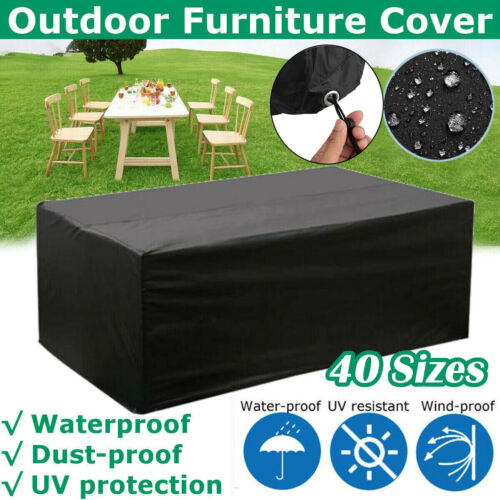 Waterproof Outdoor Furniture Cover Garden Patio Table Chair Cube Covers 40 Sizes
