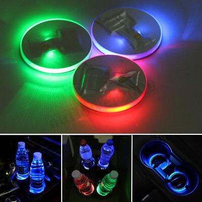 Universal Car Truck Solar Cup Bottle Bottom Holder LED Light Trim Cover Pad Mat