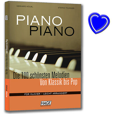 Piano Piano 1 - 100 Melodien für Klavier - Hage Verlag - EH3633 - 9783930159383