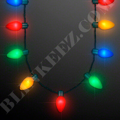 Christmas Party Favors For Adults (LED Light Up Christmas Bulb Necklace Party Favors for Adults or Kids)