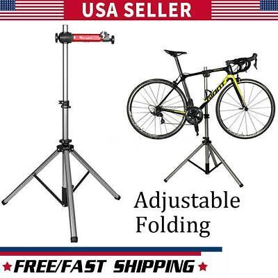 Heavy Duty Bike Repair Stand Adjustable Maintenance Folding Bicycle Rack Tool US