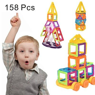 Building Block Toys (158 Pcs Magical Magnet Building Block Educational Toy For Kids Christmas)