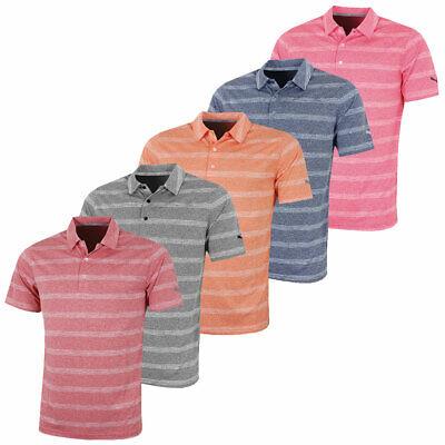 Puma Golf Mens Essential Pounce Stripe DryCell Polo Shirt 50% OFF RRP